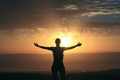 saluting the sun