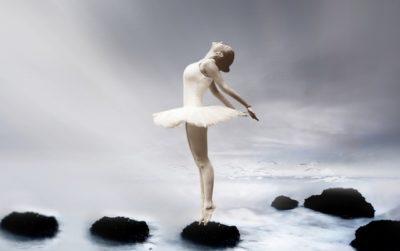 Ballerina in mist